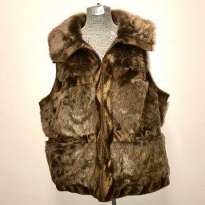 Rachel Zoe Collection Faux Fur Vest 3X